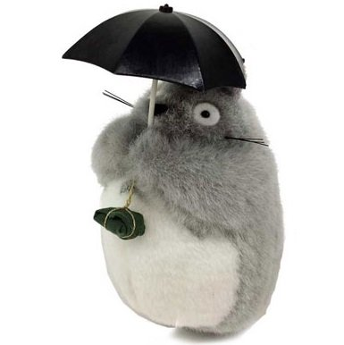 Plush Doll - H18cm - Holding Umbrella & Gift Omiyage - Totoro - Ghibli - Sun Arrow - 2016 (new)