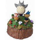 Music Box - 4 Walnut Cup - Rotate - Totoro & Chu & Sho & Mei - Ghibli - 2015 (new)