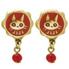 Pierced Earrings - Zinc Alloy - Red Beads - Jiji - Kiki's Delivery Service - 2016 (new)