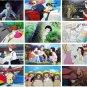 2017 Wall Monthly Calendar - 22 Studio Ghibli Movie - Totoro Kiki Ponyo Laputa Red Turtle (new)
