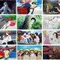 2017 Wall Monthly Calendar - 22 Studio Ghibli Movie - Kaze Tachinu / Wind Rises and More (new)