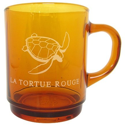 Glass Mug Cup - Made in France & Japan - Red Turtle / La Tortue Rouge - Ghibli - 2016 (new)