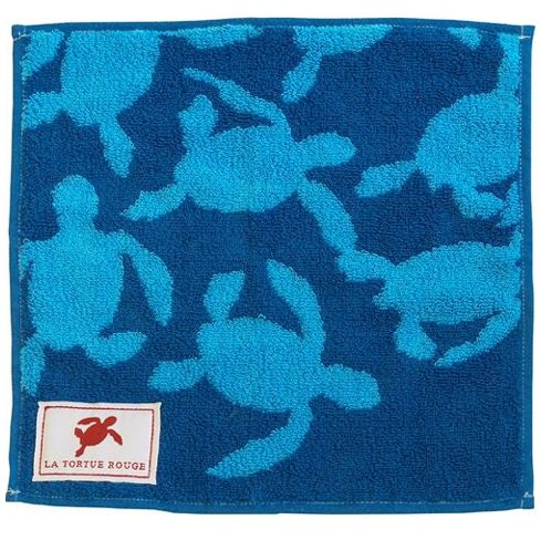 Mini Towel - 25x25cm - Jacquard Weaving - Red Turtle / La Tortue Rouge - Ghibli - 2016 (new)