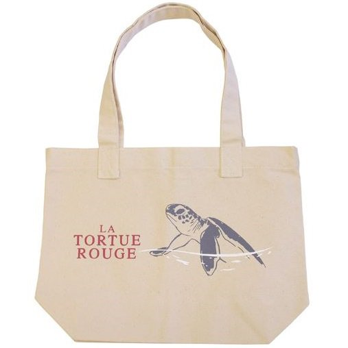 Tote Bag -36x27cm- Silk 3 Color - Made Pakistan - Red Turtle / La Tortue Rouge - Ghibli - 2016 (new)