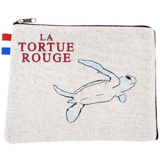 Pouch - 16x19cm - Hemp - Red Turtle / La Tortue Rouge - Ghibli - 2016 (new)