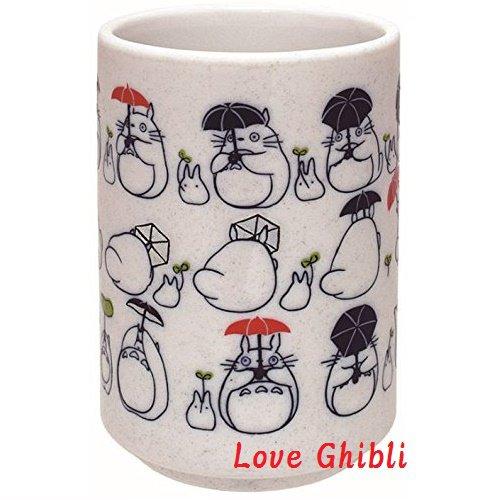 Japanese Cup Yunomi - Porcelain - Handmade in Japan - Dondoko Dance - Totoro - Ghibli - 2016 (new)