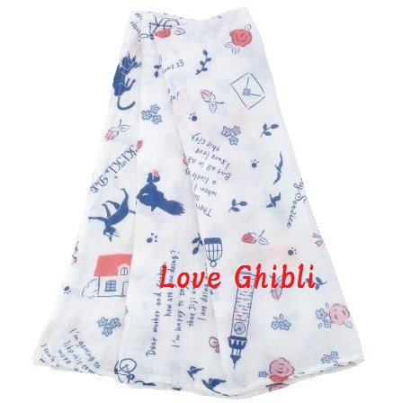 Swaddle Blanket Towel -110x110cm- Muslin Gauze - Made Japan - Kiki's Delivery Service - 2016 (new)