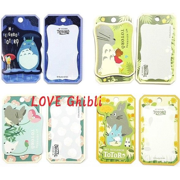 12 Gift Card Message Card - 4 Design x 3 Each - Bookmarker - Made in Japan - Totoro - 2016 (new)