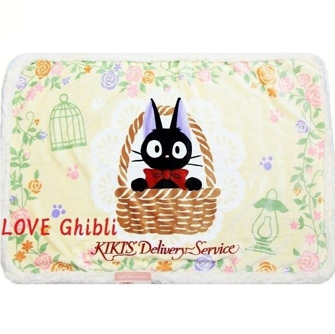 Blanket (S) 70x100cm - Microfiber Micro Sheep Boa- Jiji - Kiki's Delivery Service Ghibli 2016 (new)