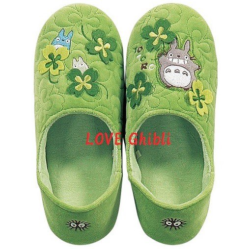 Slippers - 24cm / 9.4in - Memory Foam - Applique & Embroidery - Totoro - Ghibli - 2016 (new)