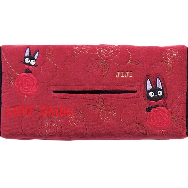 Tissue Box Cover - Applique & Embroidery - Jiji - Kiki's Delivery Service - Ghibli - 2016 (new)