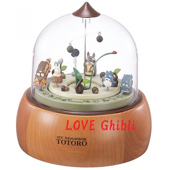 1 left- Mechanism Table Clock - Music Box - Turn & Move Inside - Totoro no production (new)
