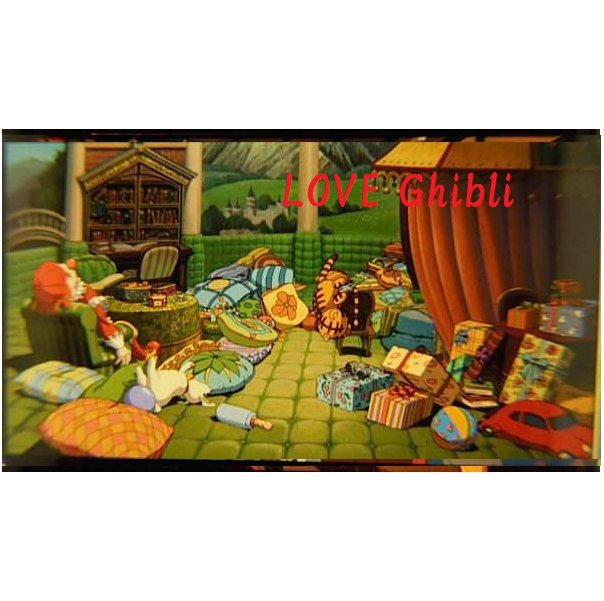 1 left - Bookmarker - Movie Film #14 - 6 Frame - Bou's Room - Spirited Away - Ghibli Museum (new)