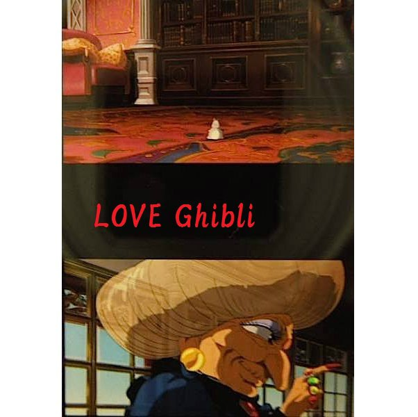 1left- Bookmarker - Movie Film #21-6 Frame- Yubaba & Bounezumi - Spirited Away - Ghibli Museum (new)