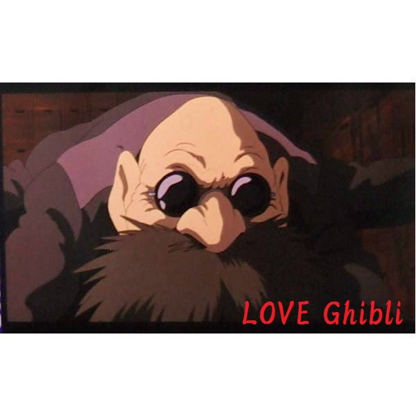 1 left - Bookmarker - Movie Film #37 - 6 Frame - Kamaji - Spirited Away - Ghibli Museum (new)