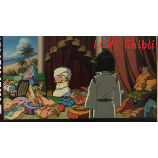 1 left- Bookmarker - Movie Film #64 - 6 Frame - Yubaba & Haku - Spirited Away - Ghibli Museum (new)
