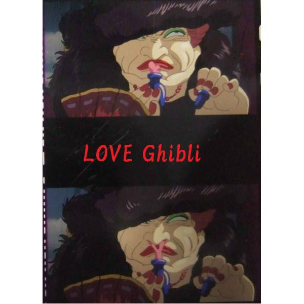 1 left - Bookmarker - Movie Film #18 - 6 Frame - Witch - Howl's Moving - Ghibli Museum (new)