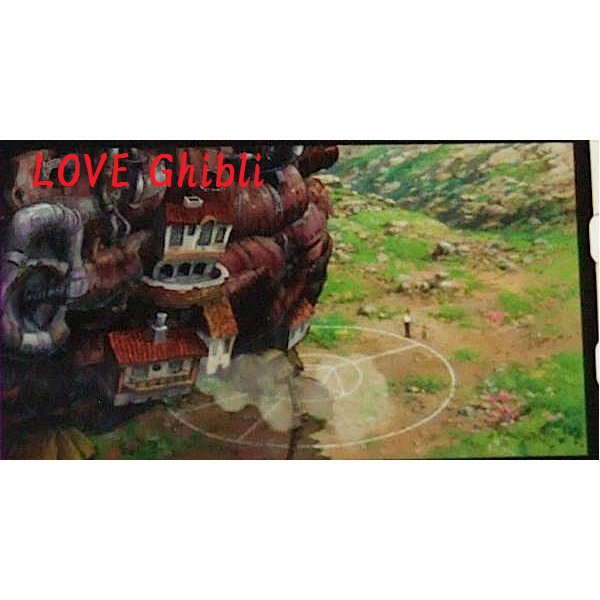 1left- Bookmarker - Movie Film #25- 6 Frame- Howl Markl Castle - Howl's Moving - Ghibli Museum (new)