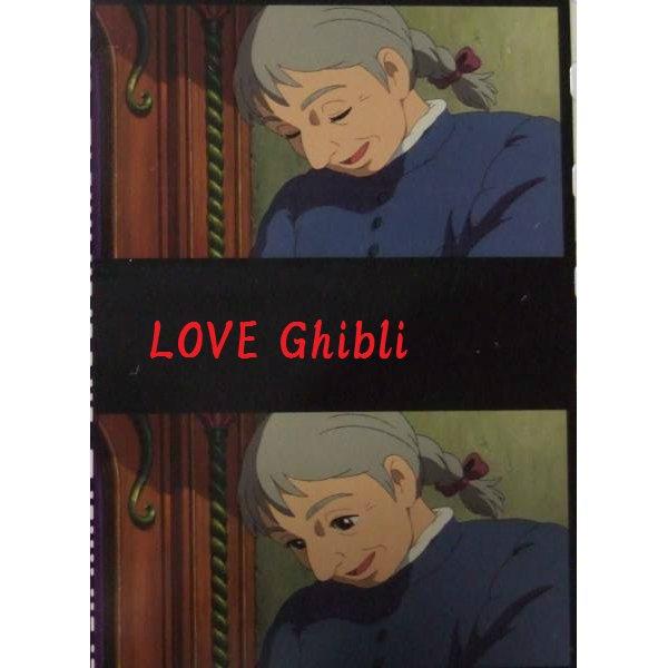 1 left - Bookmarker - Movie Film #33 - 6 Frame - Old Sophie - Howl's Moving - Ghibli Museum (new)