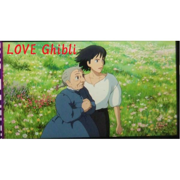 1left- Bookmarker - Movie Film #39- 6 Frame- Howl & Old Sophie - Howl's Moving - Ghibli Museum (new)
