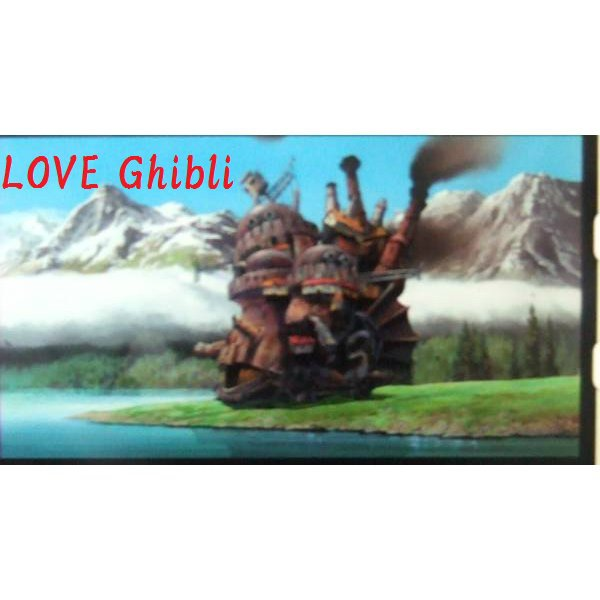 SOLD - Bookmarker - Movie Film #59 - 6 Frame - Castle - Howl's Moving Castle - Ghibli Museum (new)