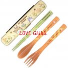 Fork & Spoon & Chopsticks in Case - 18cm - Cushion - Made in Japan - Flower - Totoro - 2016 (new)