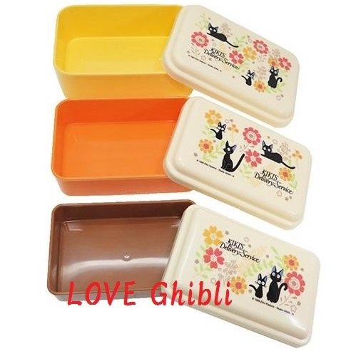 3 Lunch Bento Box / Tupperware - Compact -3 Size- Made in Japan - Kiki's Delivery Service 2016 (new)