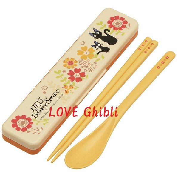 Spoon & Chopsticks in Case - 18cm - Cushion - Made in Japan - Kiki's Delivery Service 2016 (new)