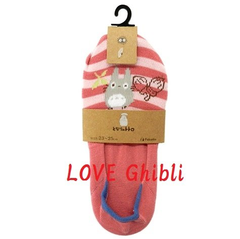Socks - 23-25cm / 9-9.8in - Very Short - Foot Cover - Pink - Totoro - Ghibli - 2016 (new)