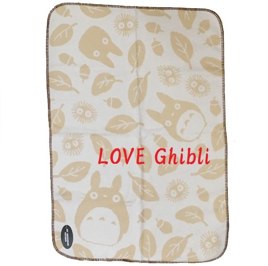 Blanket (S) - 70x100cm - Natural Cotton - Made in Turkey - Totoro - Ghibli - 2016 (new)