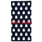Bath Towel - 60x120cm - Jacquard Weaving - Made in Portugal - Navy - Sho Chibi Totoro - 2016 (new)