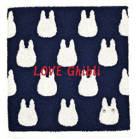 Hand Towel -33x36cm- Jacquard Weaving - Made in Portugal -Navy- Sho Chibi Totoro - Ghibli 2016 (new)