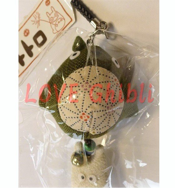 1 left - Netsuke Strap Holder - Japanese Mascot - Bell - Sho Chibi Totoro & Totoro - no production (new)