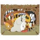 Paper Craft Kit - Paper Theater - Nekobus & Mei & Satsuki & Totoro - Ghibli - Ensky - 2016 (new)