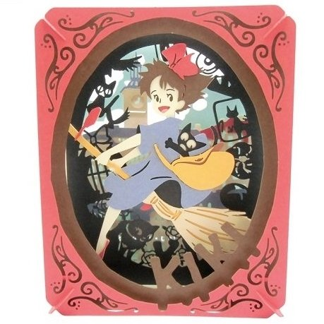 Paper Craft Kit - Paper Theater - Kiki & Jiji - Kiki's Delivery Service - Ghibli - 2016 (new)