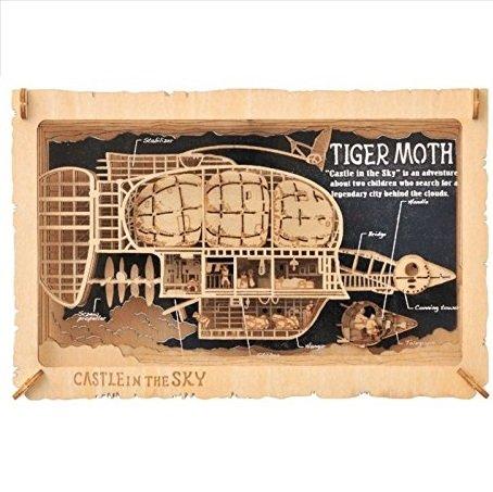 Woodcraft Kit - Paper Theater Wood Style - Tiger Moth - Laputa - Ghibli - Ensky - 2017 (new)