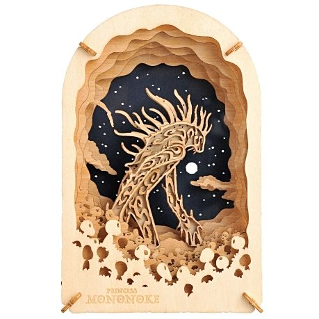 Woodcraft Kit - Paper Theater Wood Style - Daidarabotchi - Mononoke - Ghibli - Ensky - 2017 (new)