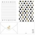 Letter Set - 10 Sheet & 5 Envelope - Kurosuke - Totoro - Ghibli - 2017 (new)