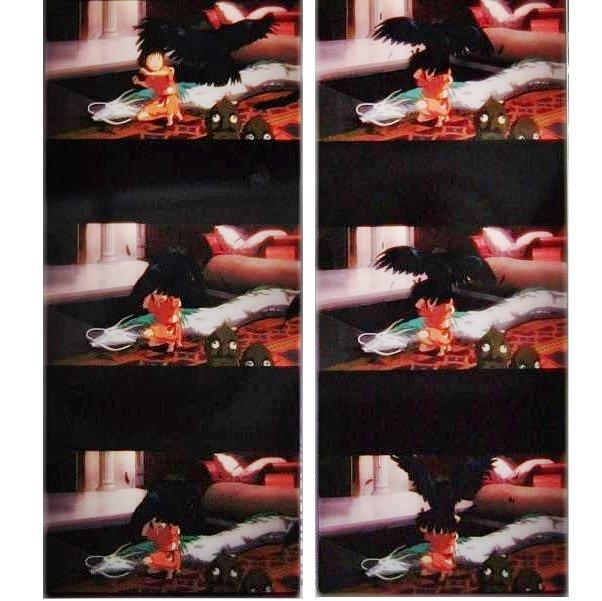 1left Bookmarker Movie Film#52 6Frame Sen Haku Dragon Kashira Yababa Bird Spirited Away -Museum(new)