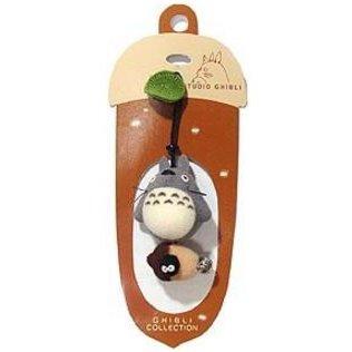 1 left - Hook Strap Holder - Mascot - Bell - Totoro & Acorn & Kurosuke - Sun Arrow - no production (new)