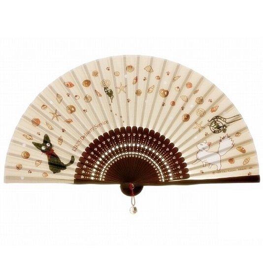 Folding Fan Sensu - Jiji Ornament - Bamboo - Kiki's Delivery Service - 2015 no production (new)
