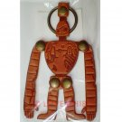3 left - Key Holder - Natural Leather - Made Japan - Robot Laputa - Ghibli Museum Card & Bag (new)