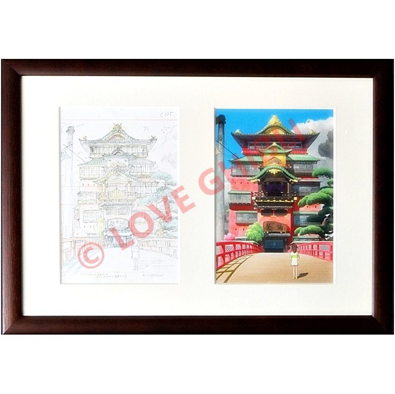 1 left - Art Frame - Ghibli Layout Designs Exhibition - Spirited Away - no production (new)