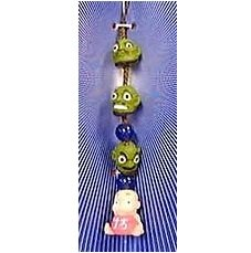 4 left- Strap Holder Holder - Natural Stone Blue Agate - Bou 3 Kashira - Spirited Away no production (new)