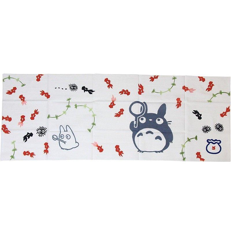 Hand Towel Tenugui 33x90cm Goldfish Japanese Dyed Made Japan Totoro Ghibli 2010 no production (new)