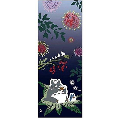 Towel / Tenugui - 33x90cm - Fireworks - Japanese Dyed - Made in Japan - Totoro - Ghibli - 2017 (new)