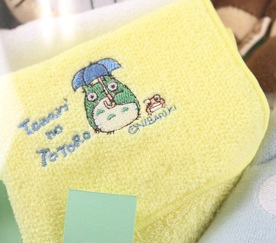 4 left - Baby Mini Towel - Embroidery - Yellow - Totoro - Ghibli - Sun Arrow - no production (new)