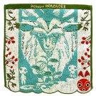 Mini Towel -25x25cm- Jacquard - Embroidery - Kodama Shishigami San Mask - Mononoke Ghibli 2017 (new)