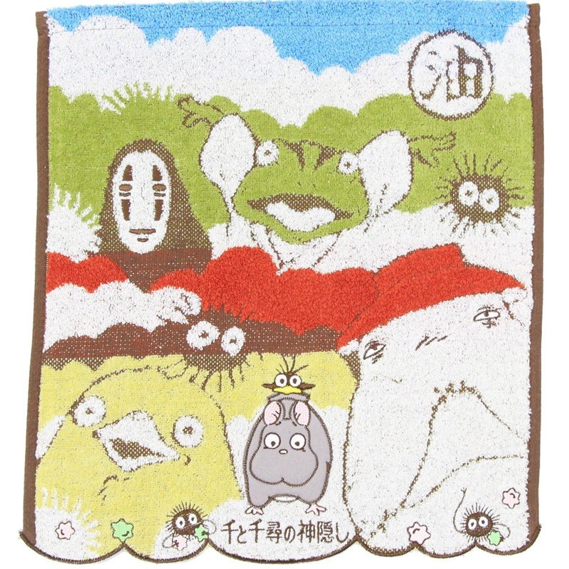 Hand Towel 34x36cm Embroidery - Bounezumi Kaonashi Ootorisama Spirited Away 2017 no production (new)
