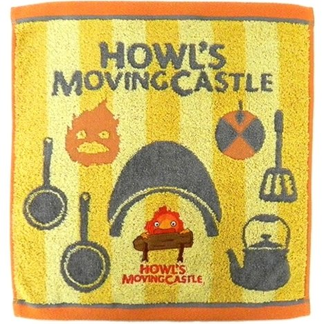 Hand Towel - 34x36cm - Jacquard Embroidery - Calcifer - Howl's Moving Castle - Ghibli - 2017 (new)